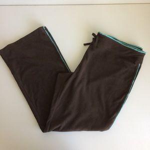 Ten Gear Pants Brown With Blue Trim Size XL